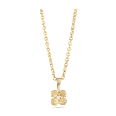 Hortensia necklace 14k gold