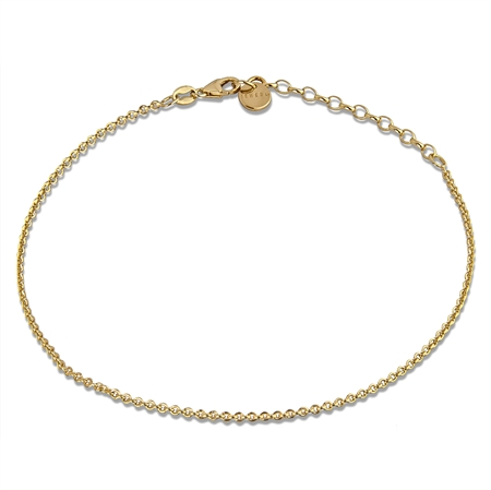anklet chain in gold plated silver