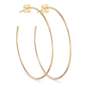 HORTENSIA HOOPS 14K GOLD