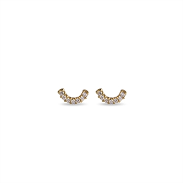 HAPPY EARRINGS 14K YELLOW GOLD WITH WHITE DIAMONDS