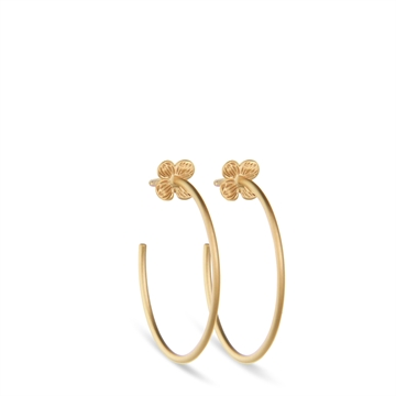 HORTENSIA CREOLES GOLD PLATED
