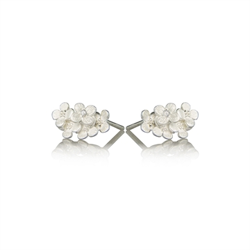 Hortensia Earring with Diamonds - Sterling Silver