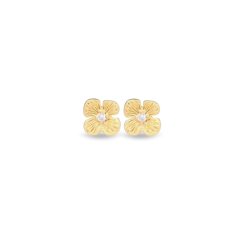 Hortensia Stud Earring with Diamond