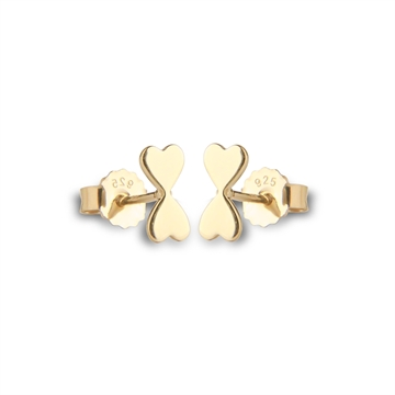 HEART TO HEART STUDS - GOLD