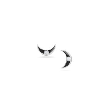 MINI MOON STUD SILVER