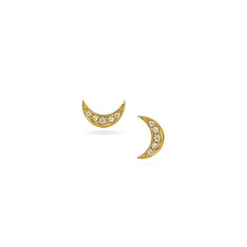 MINI MOON  STUD GOLD