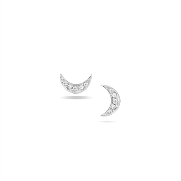 Mini Moon Pavé Ear Studs