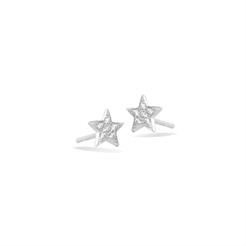 Mini Star Pavé Ear Studs