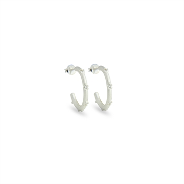 EARRINGS, OVER THE MOON, SILVER