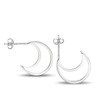 OVER THE MOON EARRINGS SILVER