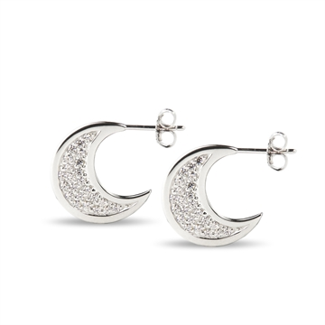Over the Moon Pavé Earrings