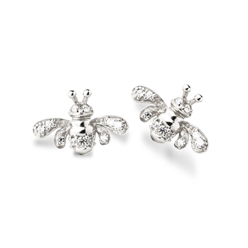 "BEE - EARSTUDS - ""Be yourself""  Silver"