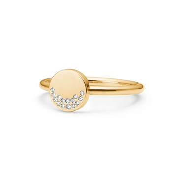 HAPPY PETITE RING 14K GOLD WITH BRILLIANT CUT DIAMONDS