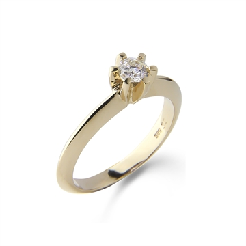 LOVELIEST SOLITAIRE RING  14K GOLD 0,25 CT. DIAMOND