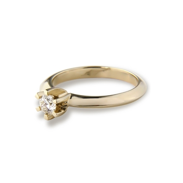 LoVELIEST SOLITAIRE RING  14K GOLD 0,15 CT. DIAMOND