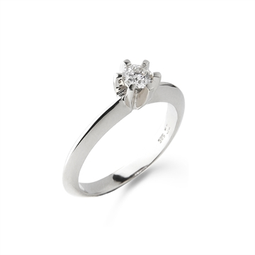 LOVELIEST SOLITAIRE RING  14K WHITE GOLD 0,25 CT. DIAMOND