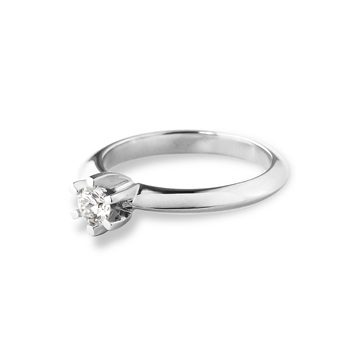 LOVELIEST SOLITAIRE RING  14K WHITE GOLD 0,15 CT. DIAMOND