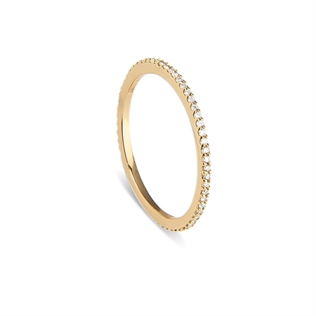ETERNITY RING LOVELIEST  14K GOLD  0,21 CT. DIAMOND