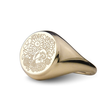 FLOWER TALES ENGRAVED RING