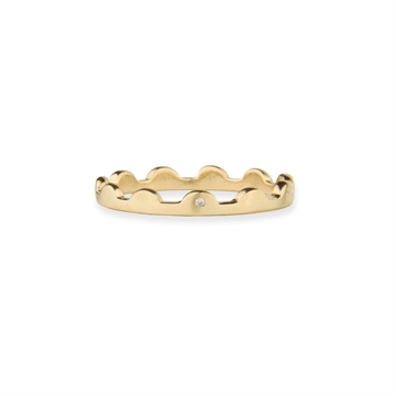 SCALLOPED RING - SATIN GOLD