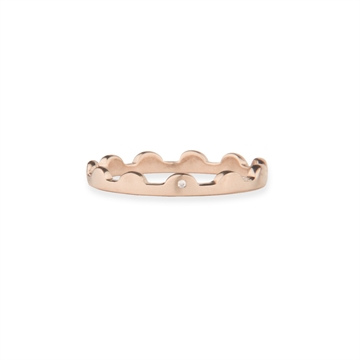 SCALLOPED RING - ROSE GOLD