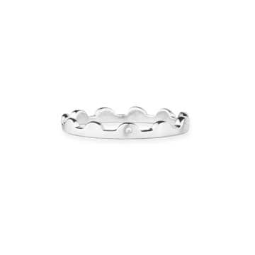 SCALLOPED RING - SATIN SILVER