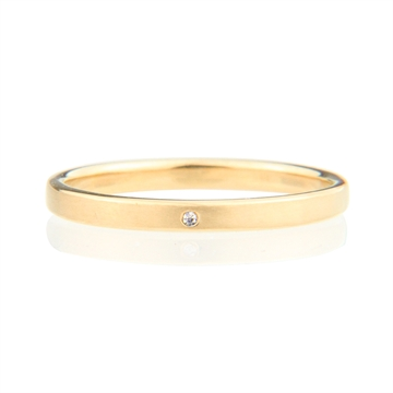 LACE STACK RING WITH 1 ZIRCONIA -  GOLD