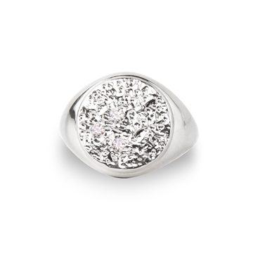 piece of the moon ring  - signet ring Sterling silver