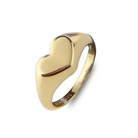 HEART TO HEART SIGNET RING GOLD