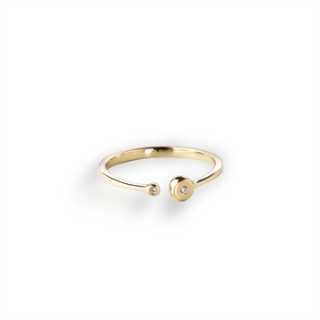 Joyful Ring - 18K gold plated Silver