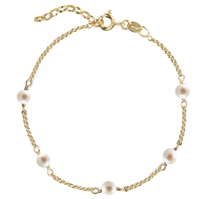 Love Eye Bracelet - Freshwater Pearls