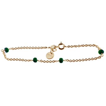 BRACELET, LOVE EYE, Green Agate