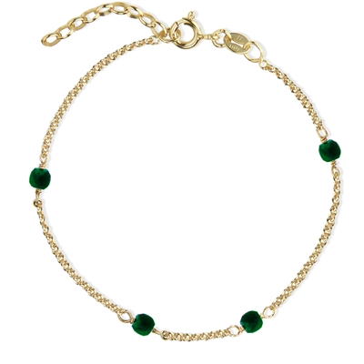 Love Eye Bracelet - Green Agate