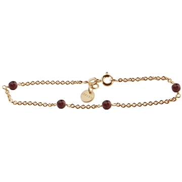 BRACELET, LOVE EYE, RED GARNET