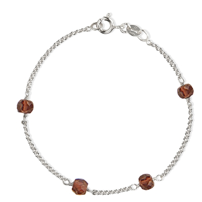 Love Eye Bracelet - Red Garnet