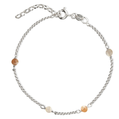 Love Eye - Nude Moonstone Bracelet