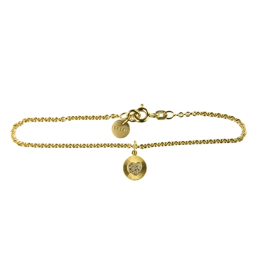 BRACELET, OVER THE MOON WITH 1 GOLD PENDANT