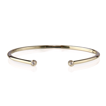 GRACEFUL BANGLE GOLD PLATED