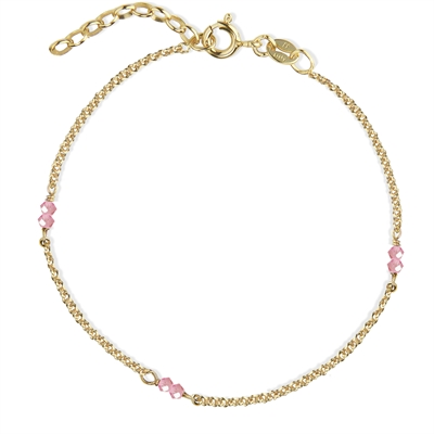 Love Eye Bracelet - Pink Crystal