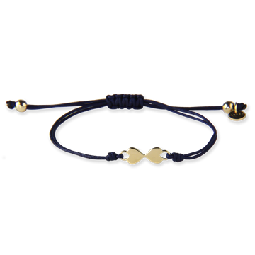 HEART TO HEART BLUE BRACELET GOLD