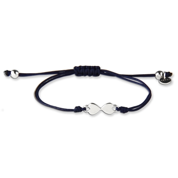 HEART TO HEART BLUE BRACELET SILVER